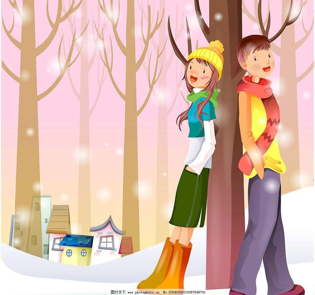 卡通人物 卡通 人物 糖果屋 秋天 男生 女生 情侣 动漫动画 动漫人物