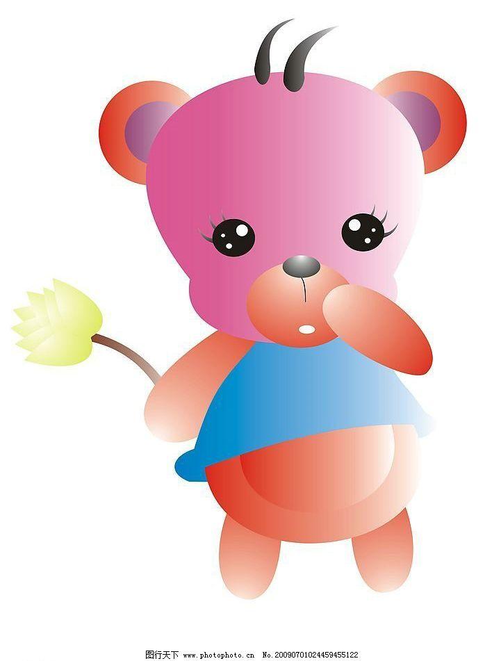 可爱小熊 生物世界 野生动物 矢量图库 cdr