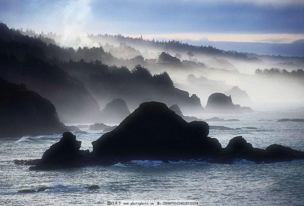 山川仙境 美丽风景 蓝天 白云 云层 天空 树木 高山 景色 山峰 湖泊
