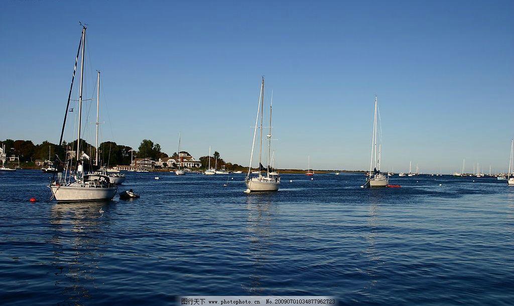 美国风光 美国 海边 帆船 自然景观 自然风景 摄影图库 180dpi jpg