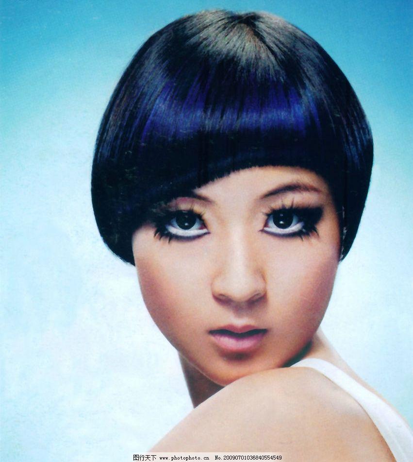 美发 发型 最新发型 烫发 染发 沙宣发 人物图库 女性女人 摄影图库图片