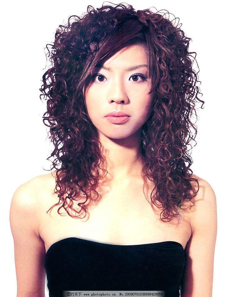 美发 发型 最新发型 烫发 染发 女性女人 摄影图库