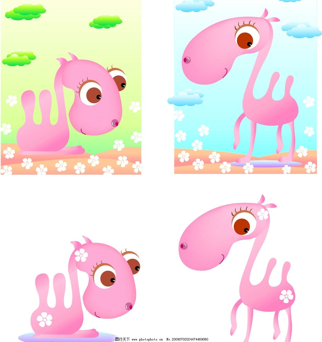 粉色骆驼矢量 粉色骆驼矢量素材 可爱 卡通 其他矢量 矢量图库