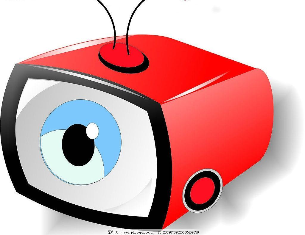 卡通电视机 卡通 电视机 眼睛 矢量卡通 矢量电视 矢量 cdr 生活百科