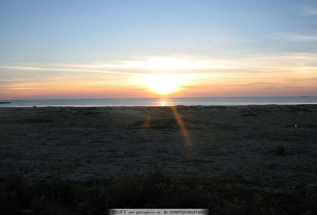 澎湖日出 大自然 景观 景象 天空 云彩 海洋 海岸 岛屿 海滩 日出
