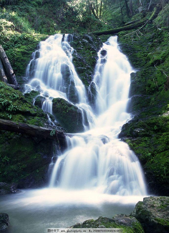 瀑布 湍急 山水 风景 河流 自然景观 山水风景 摄影图库 300dpi jpg