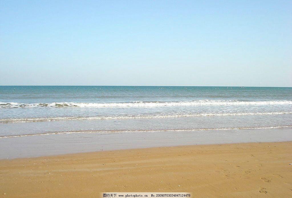 青岛金沙滩 自然景观 自然风景 摄影图库