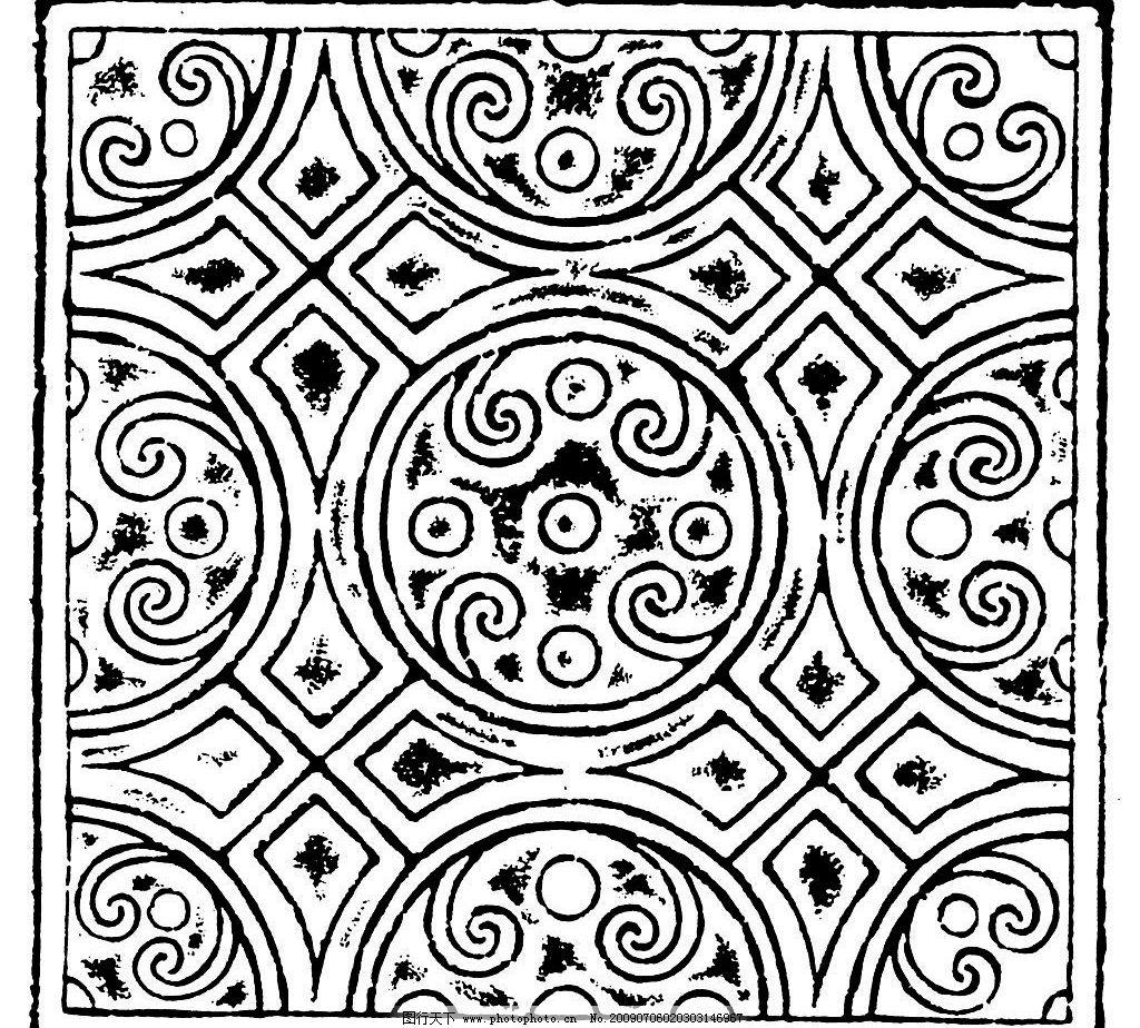 秦朝 汉代 汉朝 古代 古典 图案 花边 底纹 黑白 底纹边框 花边花纹