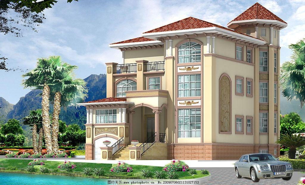 楼房外观 高贵 时尚 舒服 养眼 3d设计 设计图库 261dpi jpg