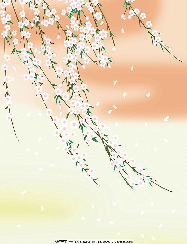 桃花背景 底纹边框 花边花纹