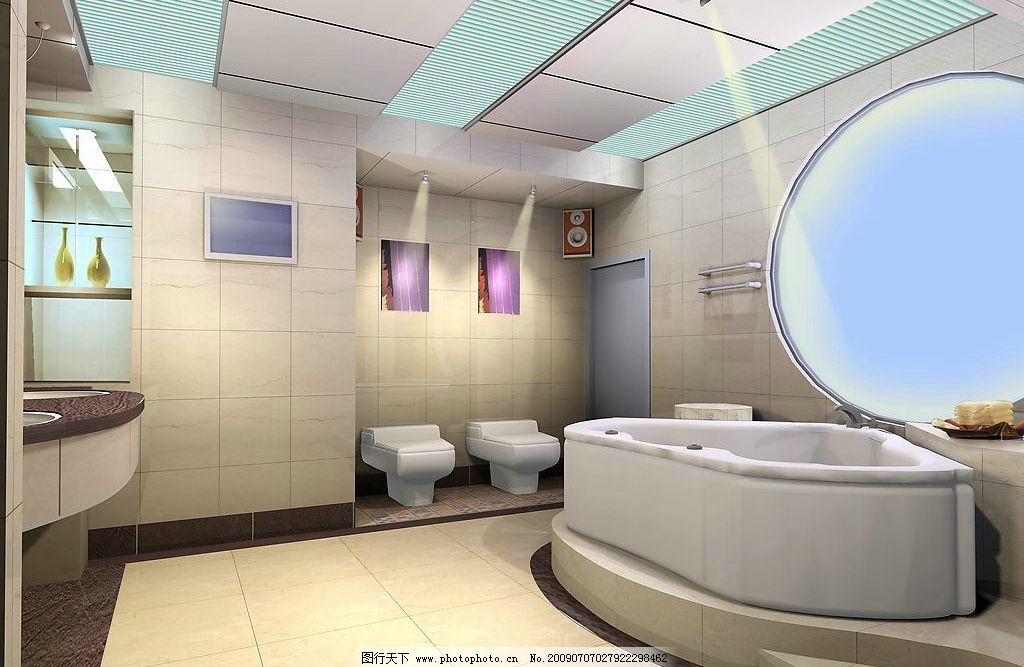 广告设计 空间设计 室内设计 卫生间效果图 环境设计 设计图库 72dpi