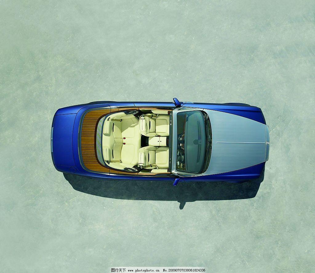 劳斯莱斯敞篷车 敞篷车 尊贵 名车 品牌 经典 高贵 高清 俯视 俯瞰