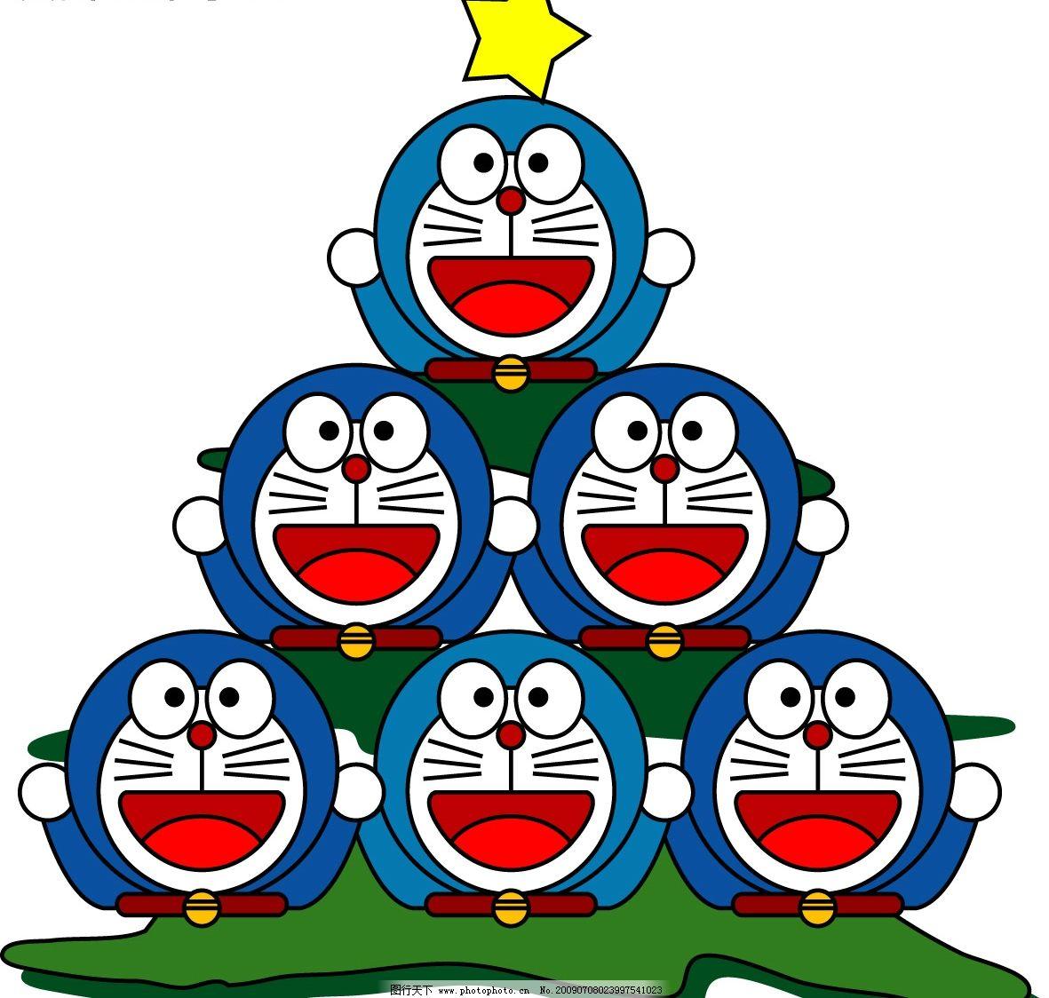 机器猫 小叮铛圣诞树 小叮铛 圣诞树 哆啦a梦 可爱 merry christ