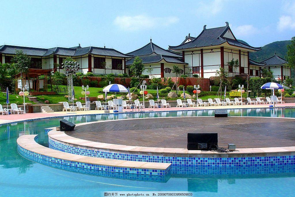 室外大型温泉 室外 大型 温泉 别墅 山庄 游泳池 泉边 休闲 咖啡座