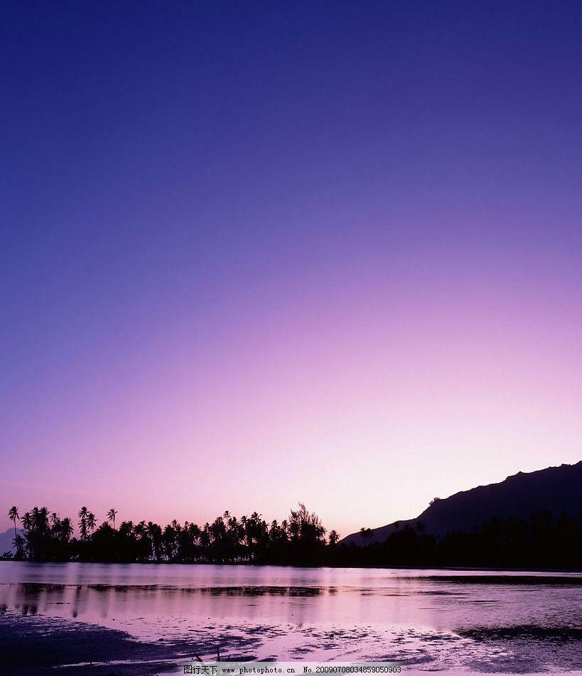 海霞漫天 沙滩 落日 海边 傍晚 晚霞 风景 自然景观 自然风景
