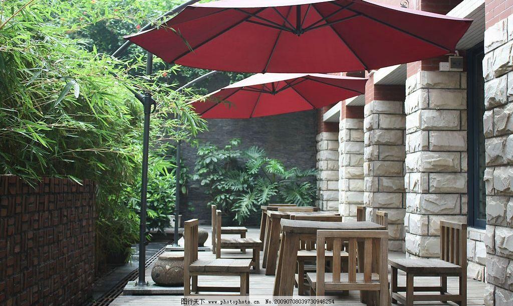 户外咖啡厅图片