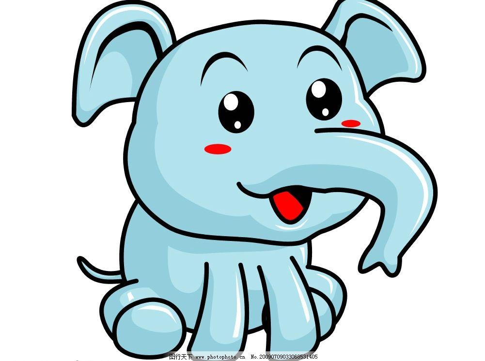 卡通 大象图片