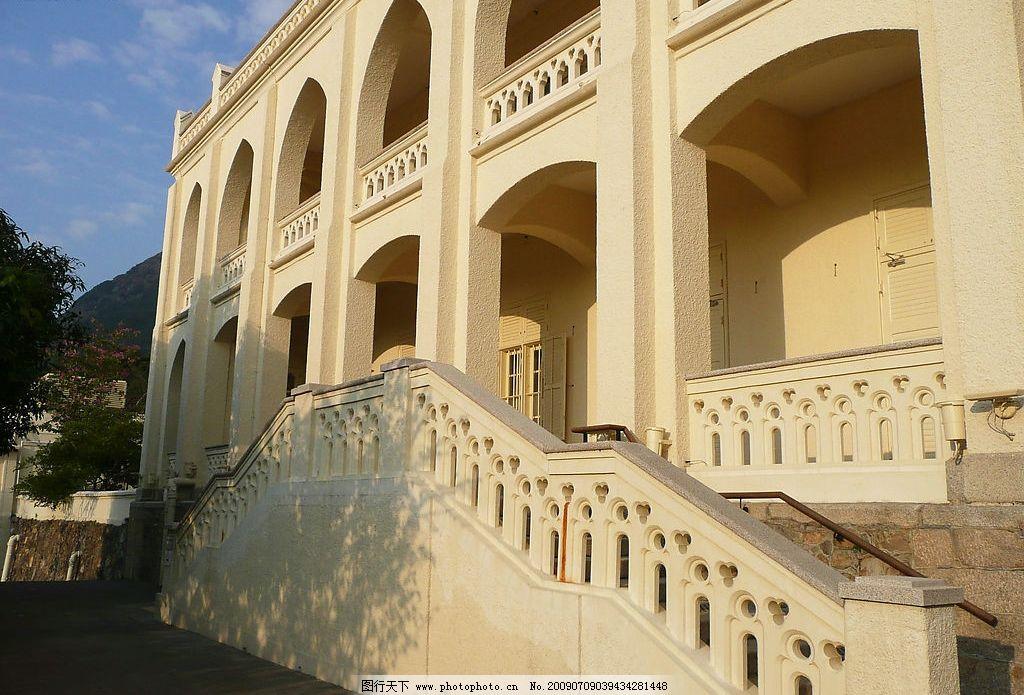 伯大尼教堂 伯大尼 教堂 英式 建筑 白色 拱门 楼梯 婚礼 场地 建筑园