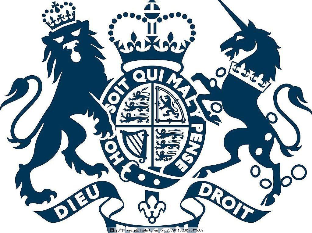 英国驻州领事馆 广州领事馆 狮子 独角 标识标志图标 其他 矢量图库