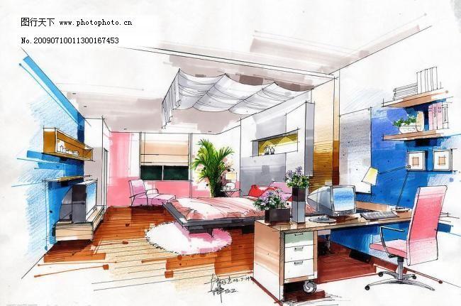 三层主卧室手绘(方案二)图片_室内设计_装饰素材_图行