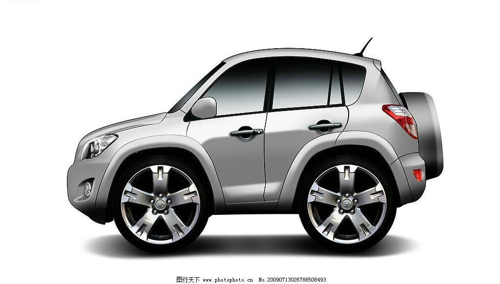 q版汽车 q版 rav4 手绘车 卡通车 现代科技 交通工具 手绘q版汽车