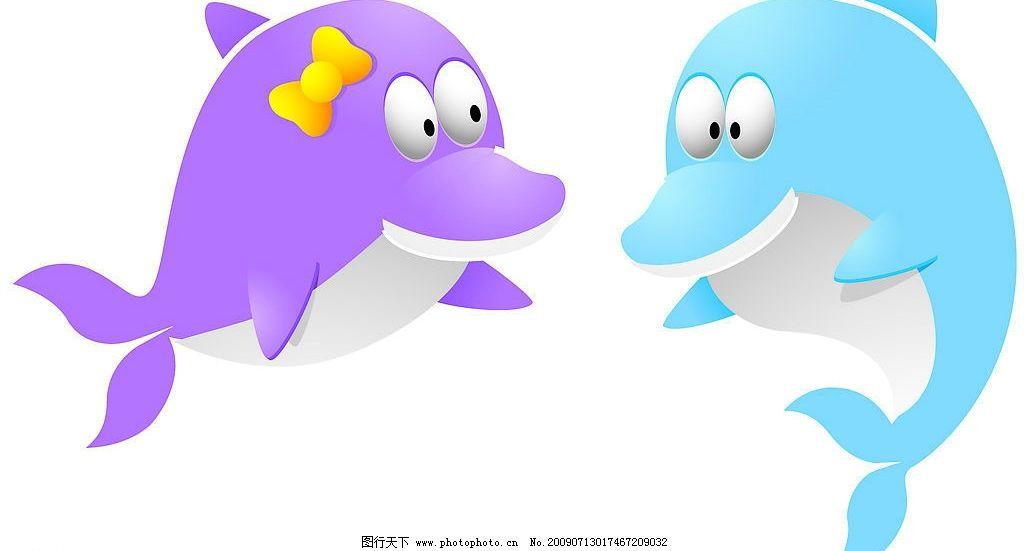 海豚 情侣q版企鹅 企鹅 矢量图库 ai 生物世界 其他生物