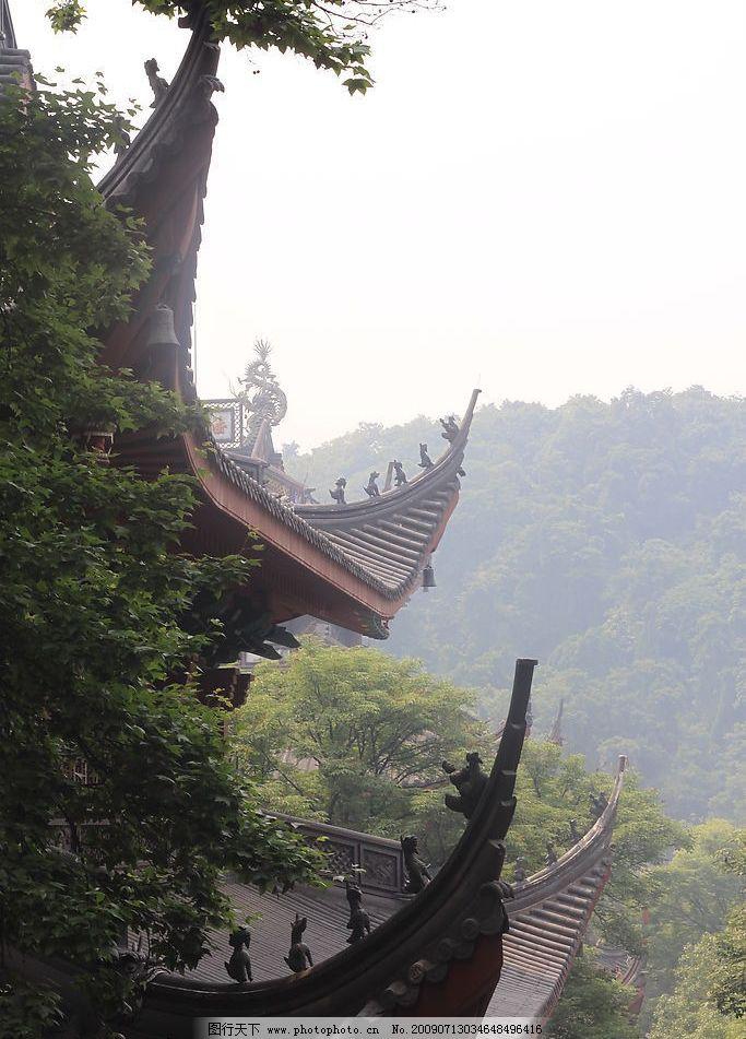灵隐寺04 杭州 灵隐寺 寺院 古刹 青山 自然景观 风景名胜 摄影图库 7