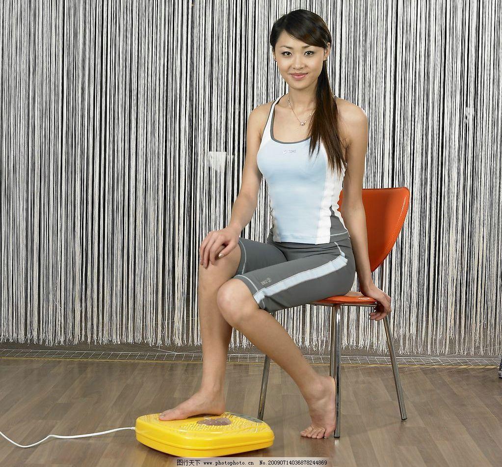 运动 锻炼 休闲 美女 健美 性感 美臀 丰满 美腿 淑女 丝袜
