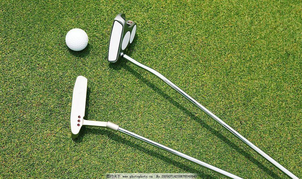 高尔夫球场 高尔夫球 草坪 高尔夫球杆 高尔夫球手 文化艺术 体育运动