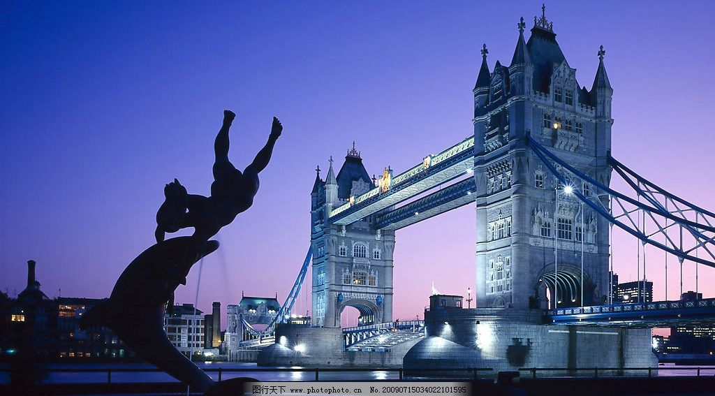 伦敦塔桥 英格兰 夜景