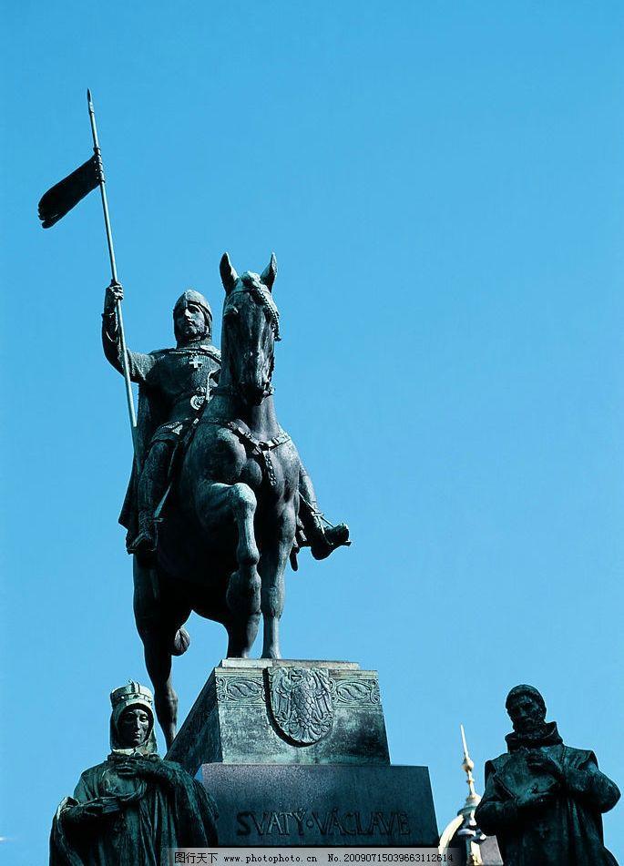雕塑 胜利 骑马 战士 建筑园林 建筑摄影 摄影图库 300dpi jpg