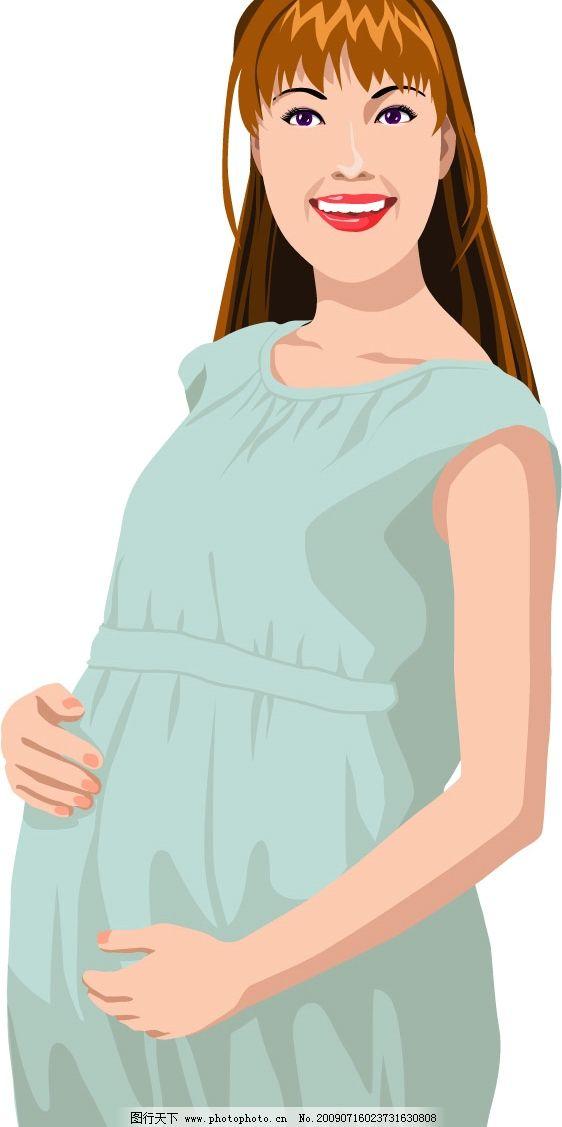 手绘怀孕的母亲