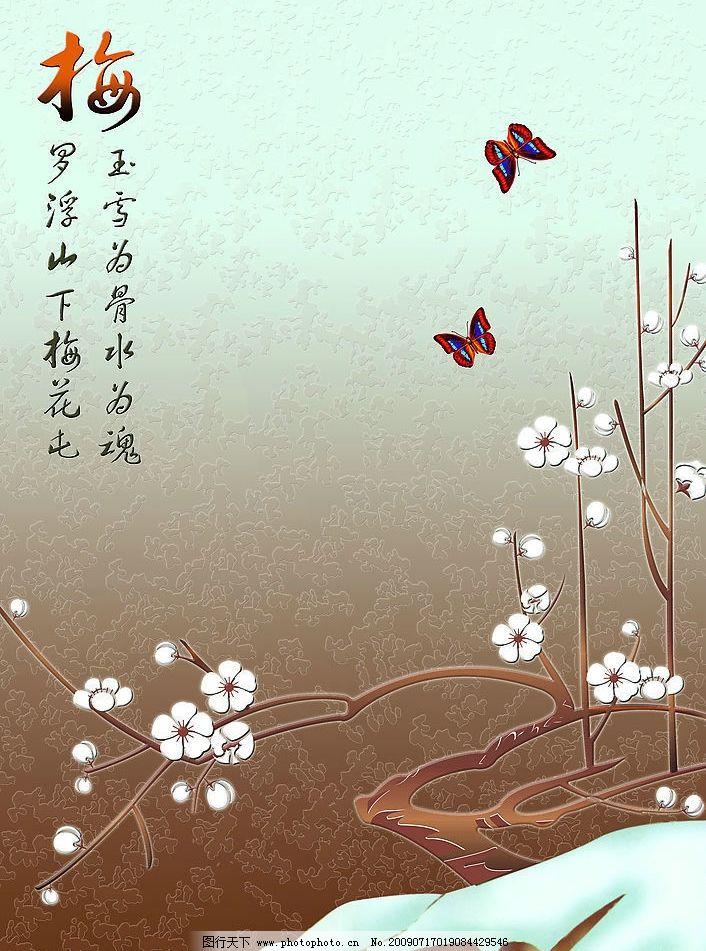 梅花 蝴蝶图片