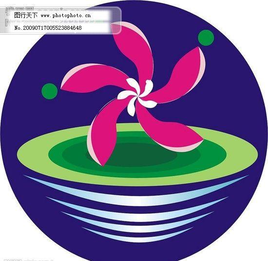 漂亮的莲花商品标志_其他_矢量图_图行天下图库