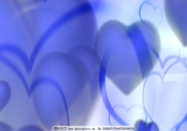 蓝心背景 粒子 心形 动感 动态 影视 非编 电子相册 唯美 花纹 梦幻