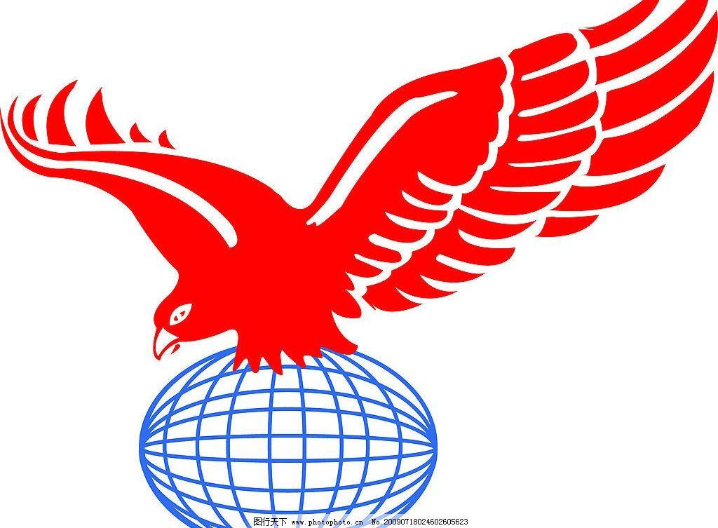 老鹰 地球 失量图 展翅 飞翔 生物世界 鸟类 矢量图库 cdr