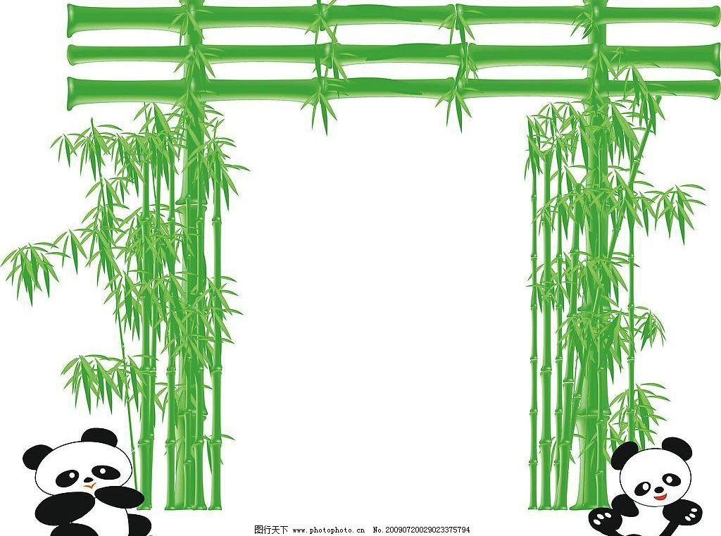 绿色的门 门 竹子 熊猫 绿色 叶子 吃 环境设计 其他设计 设计图库