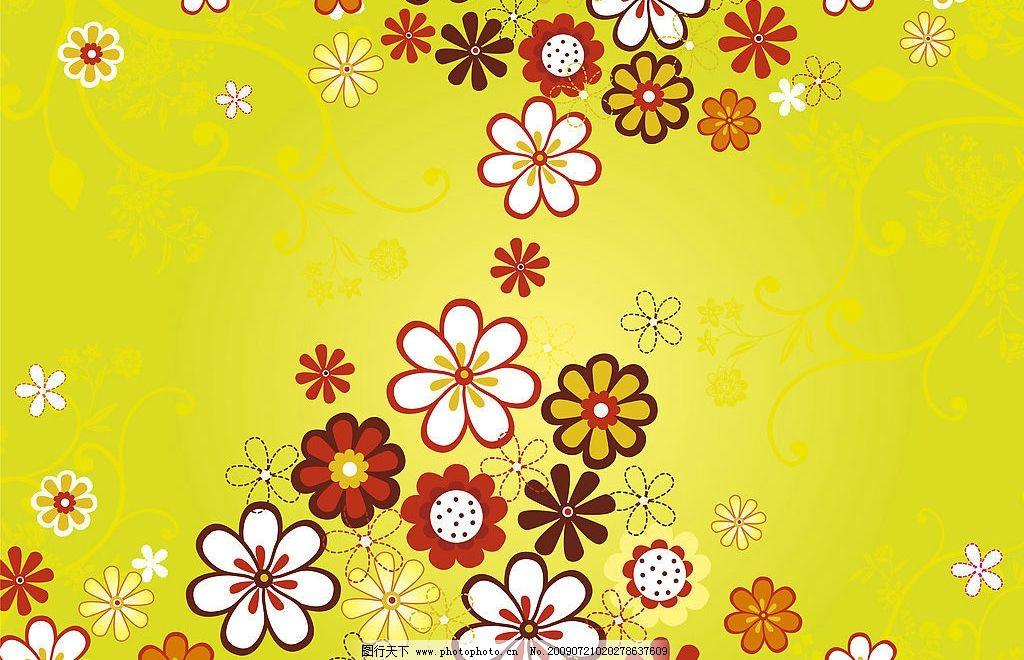 背景 底纹 素材 设计 插画 花朵 花卉 春天 夏天 花 底纹边框 背景