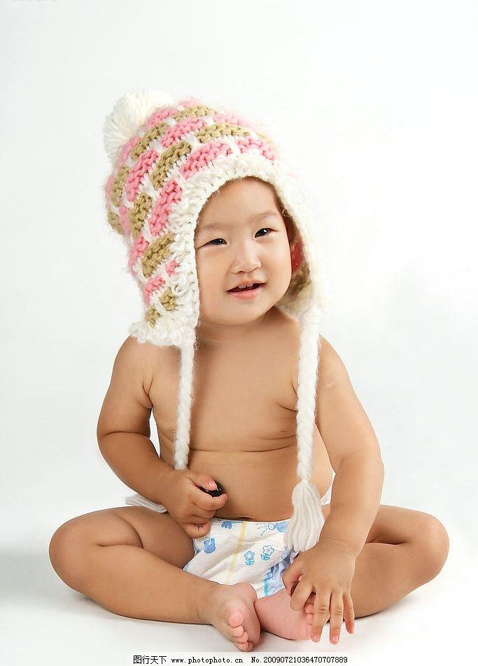 胖娃娃 线织帽 小孩子 幼儿 可爱小孩 人物图库 儿童幼儿 摄影图库