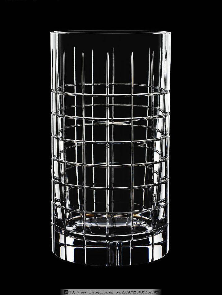 水晶杯 水晶造型 雕花图案 手工切割 酒杯 器皿 玻璃杯 工艺美术 彩色