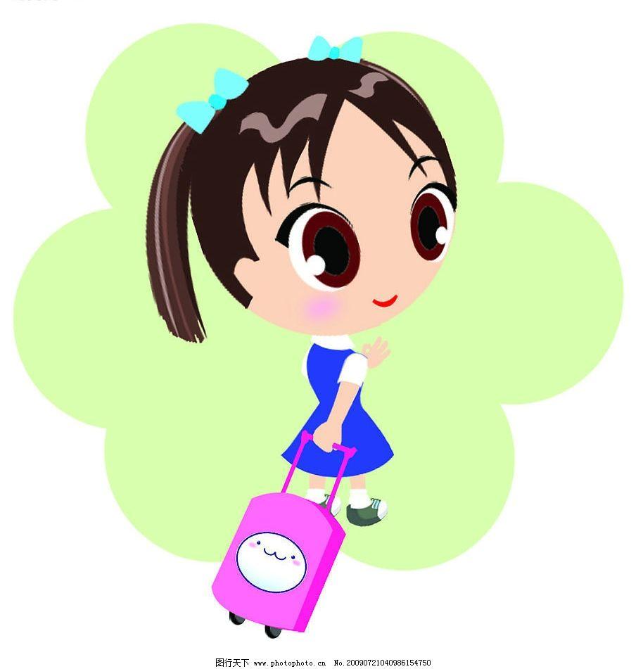 卡通人物 女学生 可爱小学生 卡通女孩子 漫画 人物图库 儿童幼儿