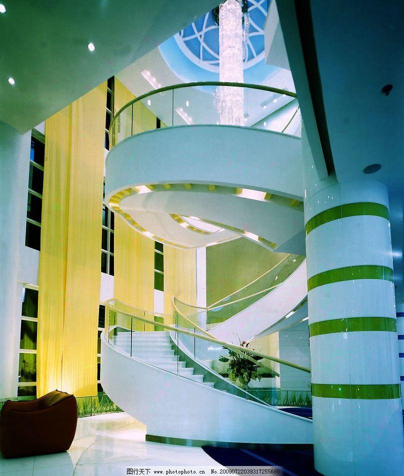大堂 酒店大堂 大堂楼梯 酒店一层 酒店柱子 旋转楼梯 旋转 仰视 建筑