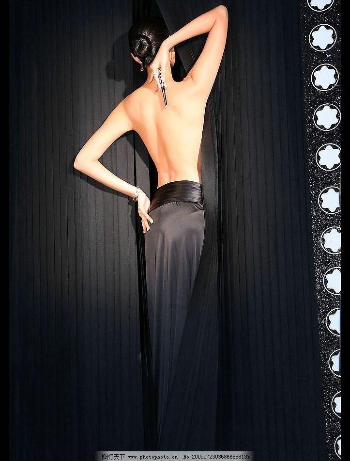 绝美 身材 背部 背影 腰 裸露 胴体 淑女 高贵 高雅 时尚 女人 女性