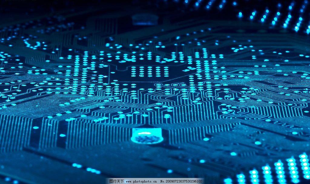 高清电脑线路板 集成板 电路板 集成电路 电工 摄影图库