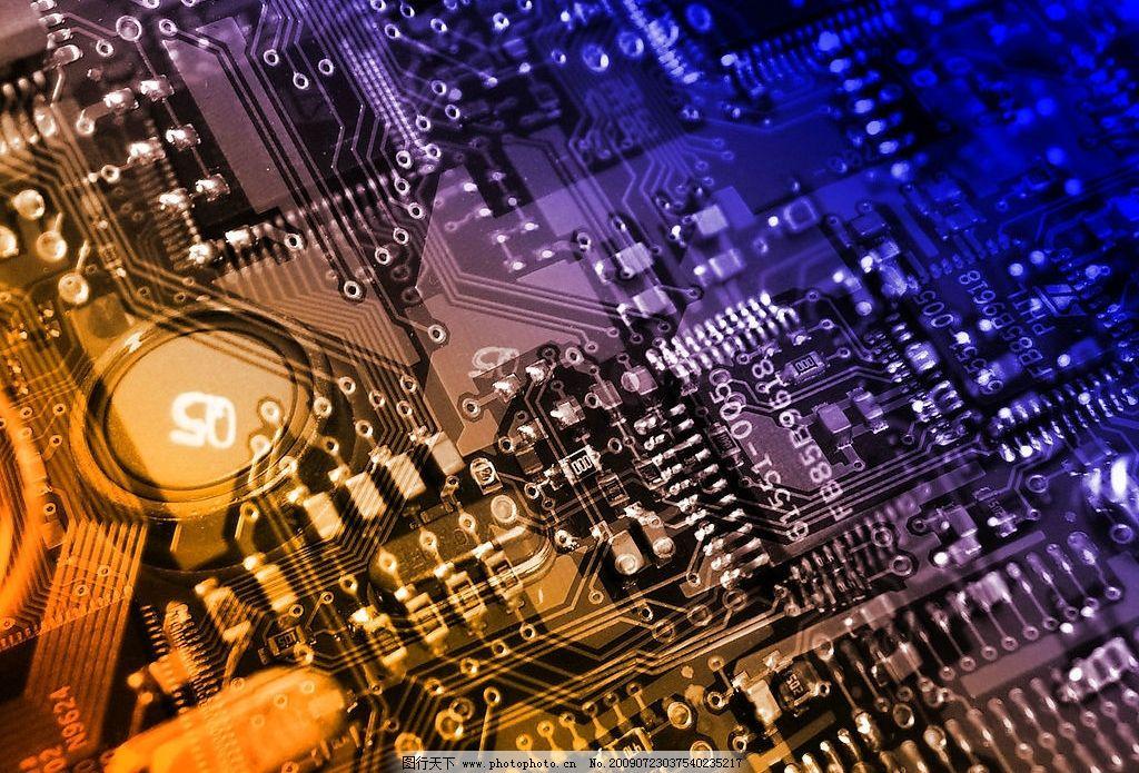 电脑网络 电脑线路板图片 线路板 集成板 电路板 集成电路 电工 摄影
