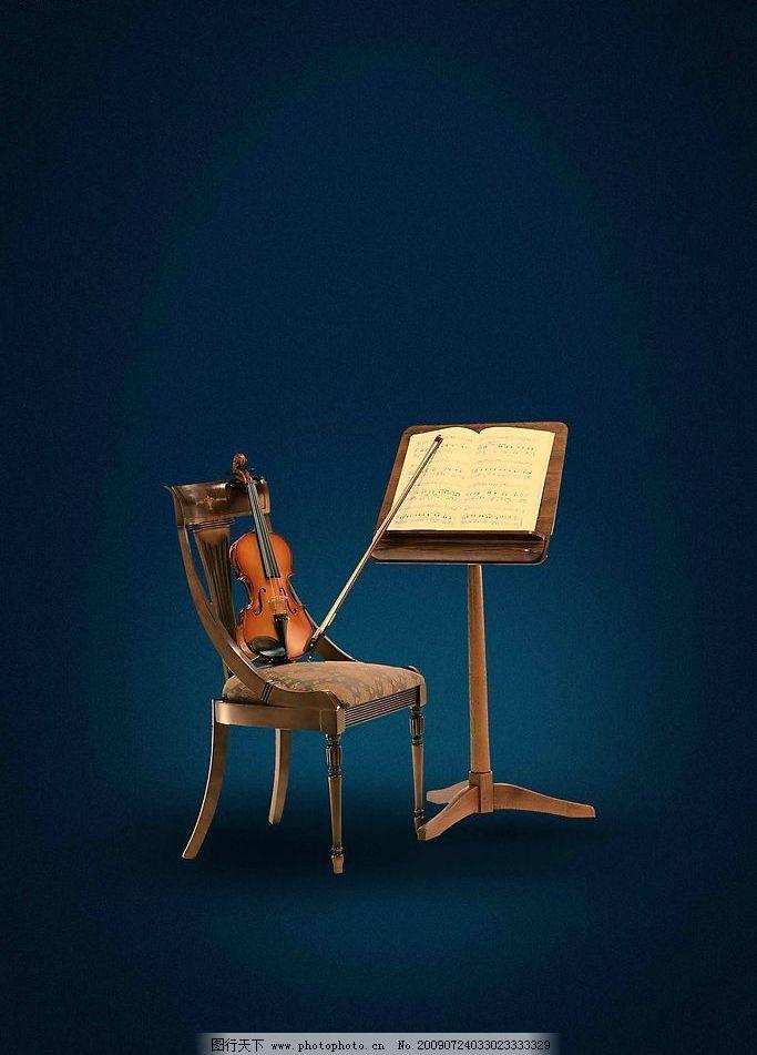 小提琴曲谱图片_其他_psd分层_图行天下图库