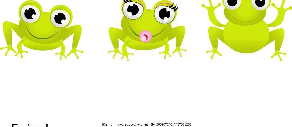 小青蛙 可爱的 矢量 生物世界 其他生物 矢量图库 eps