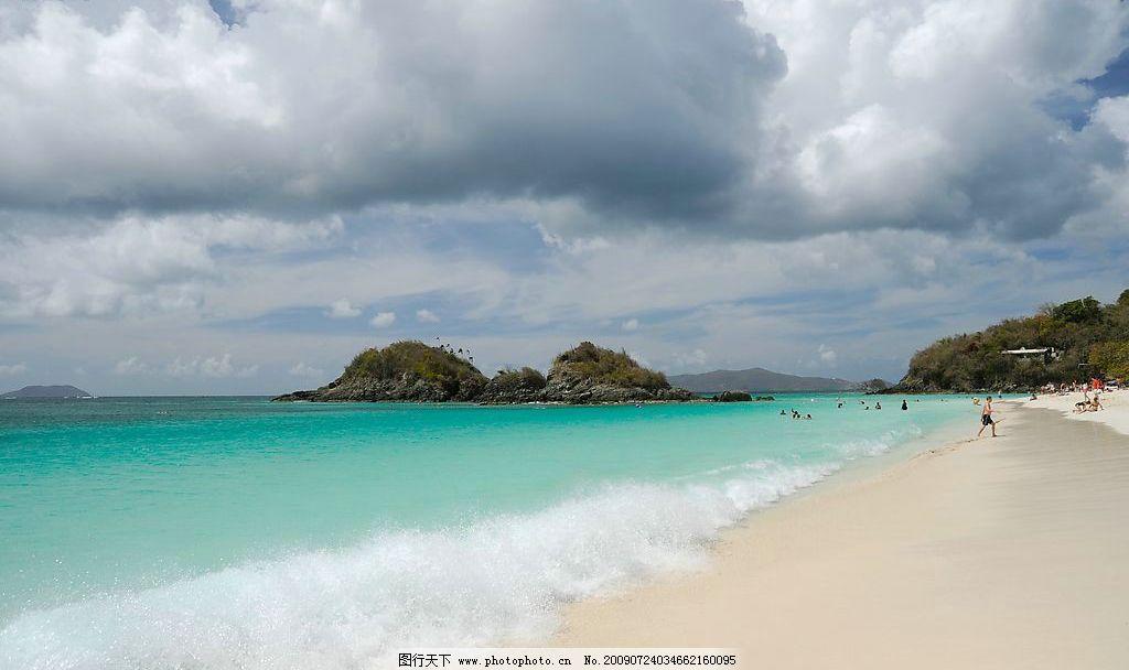 乌龟海湾海滩风景图片