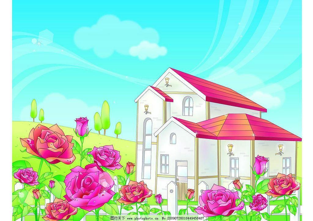 别墅图片_风景漫画_动漫卡通