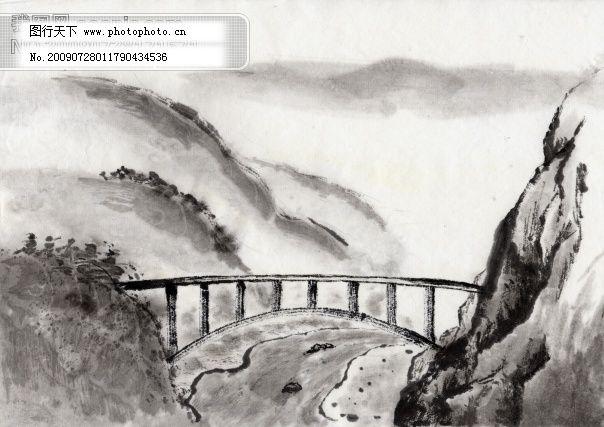 水墨山水图免费下载 设计图 自然风景图片 自然景观 设计图 自然景观